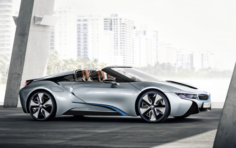 2018 Bmw I8 Roadster Gets Folding Top Bigger Battery Means Punchier
