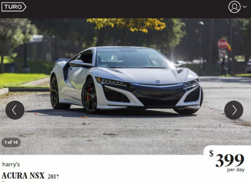 you can rent this 2017 acura nsx in los angeles for just 400 a day alt car news. Black Bedroom Furniture Sets. Home Design Ideas