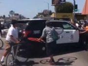 Los Angeles Cyclist police