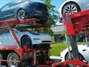 Tesla car carrier