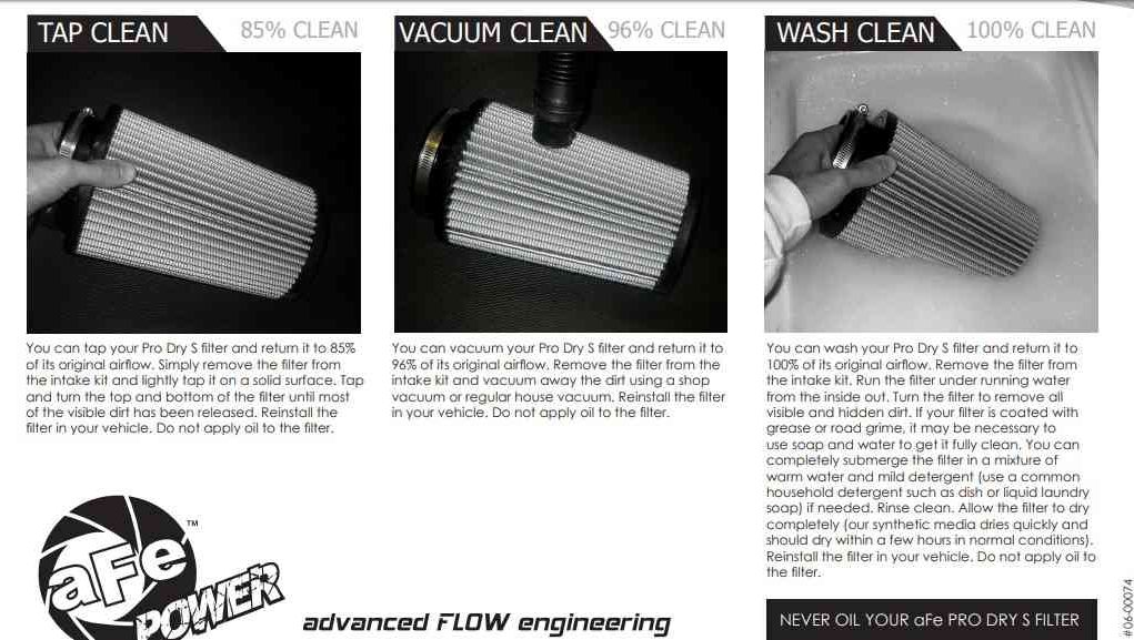 vacuum air filter intake