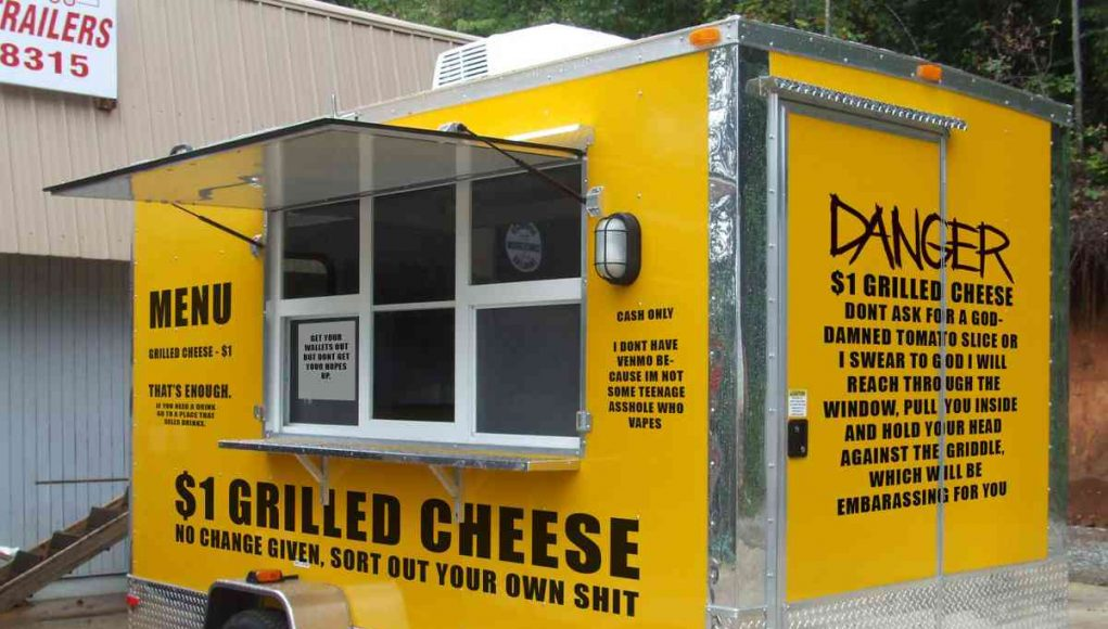 $1 Grilled Cheese Cart