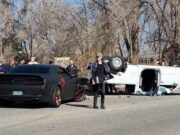 Loveland Cars and Coffee Crash Hellcat