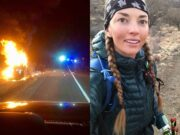 Ultra runner Candice Burt saves man from burning car
