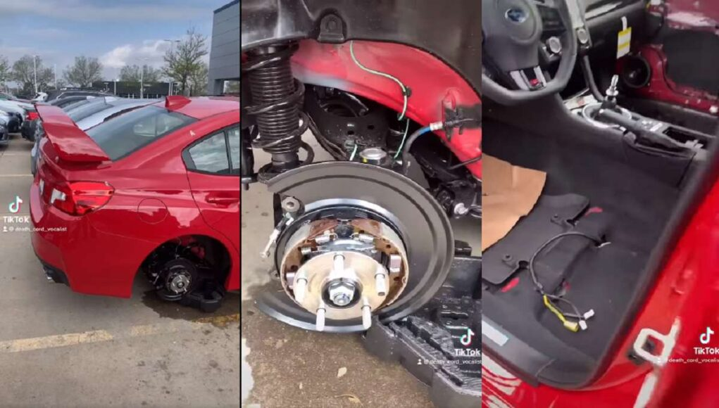 Thieves stripped $25,000 worth of parts off this WRX Sti