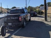 BMW driver gets pulled over by police truck towing boat