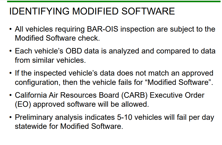BAR-OIS modified software