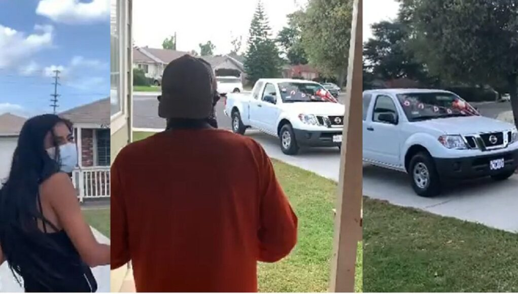 Brenda Martinez buys parents home, her dad a Nissan Frontier