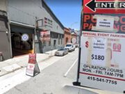 136 Townsend Parking Garage highest price before Giants game