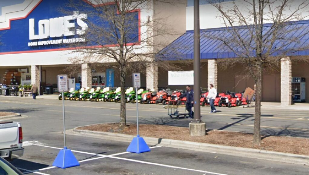 Veterans only parking at a Monroe North Carolina Lowes